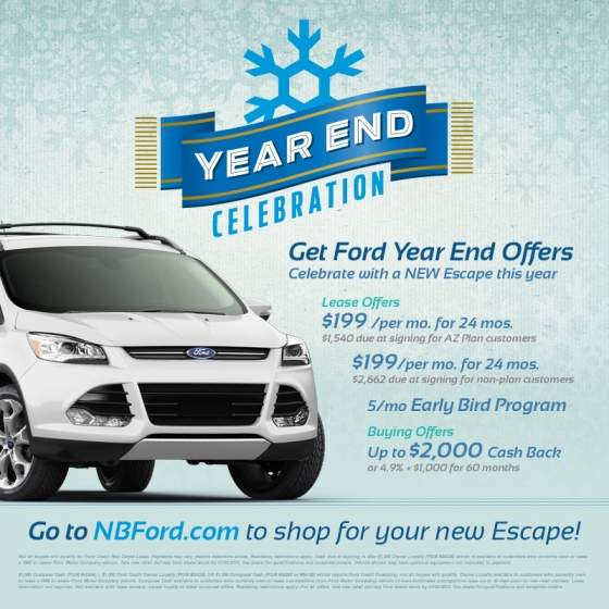 Ford escape year end lease offers north brothers chronicle for Ford motor company lease deals