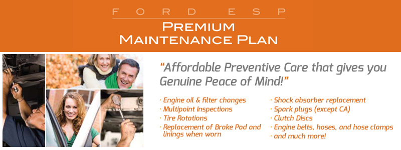 Free Ford Premium Maintenance Plan Offer