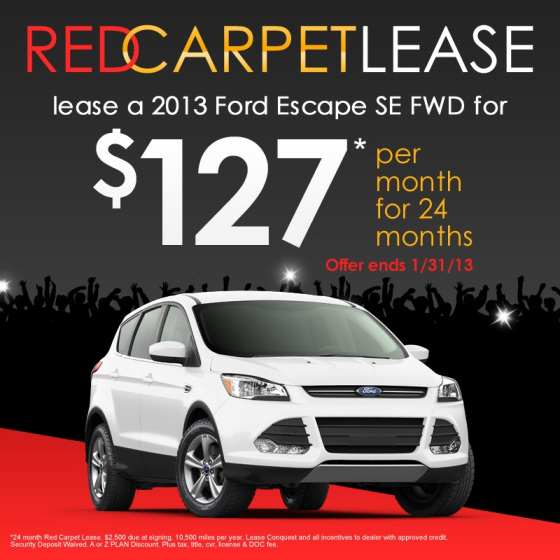 Ford X Plan Pricing >> 2013 Ford Escape Red Carpet Lease Offer | North Brothers ...