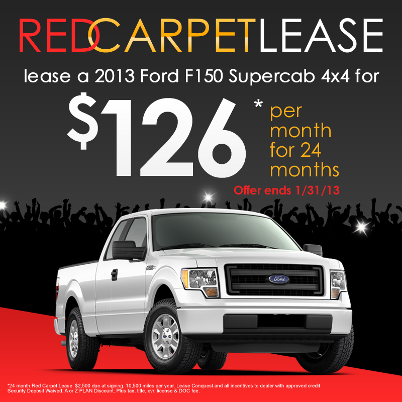 2013 Ford F-150 Red Carpet Lease