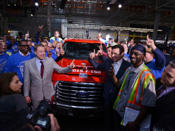 First Brand-New 2015 F-150 Rolls Off Assembly Line